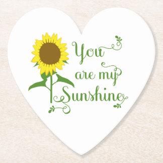 Gelbe Sonnenblume-Blumen-Liebe-Zitat-mit Untersetzer