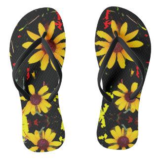 Gelbe Sonnenblume mit Confetti - Schwarzes drehen