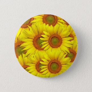Gelbe Sonnenblume Runder Button 5,7 Cm