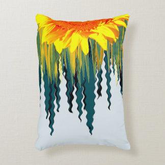Gelbe Sonnenblume-Welle von träumerischem Dekokissen