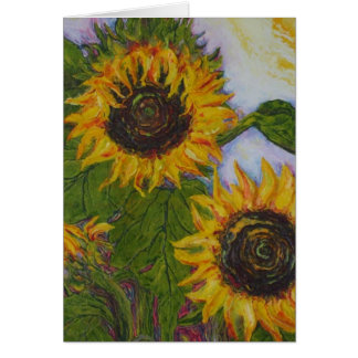 Gelbe Sonnenblumen durch Paris Wyatt Llanso Karte