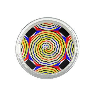 Gelbe Spiralen durch Kenneth Yoncich Ring