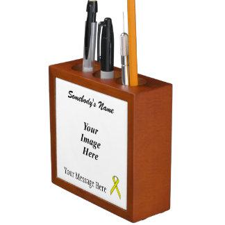 Gelbe Standardband-Schablone Stifthalter