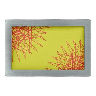 gelbe Stern-Blume Rechteckige Gürtelschnalle