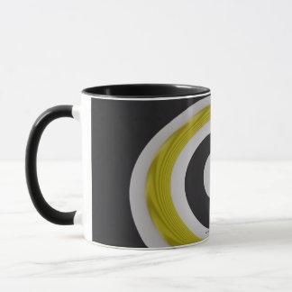 Gelbe Strudel-Tasse Tasse
