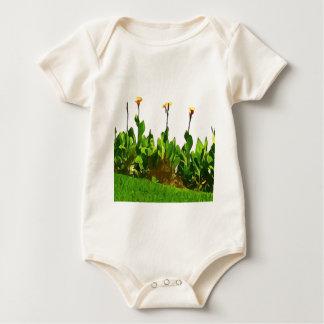 Gelbe Tageslilien Baby Strampler