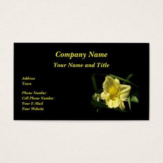 Gelbe Taglilie-Blume Visitenkarte