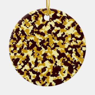 Gelbe Tarnung Rundes Keramik Ornament