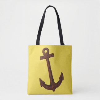 Gelbe Taschen-Tasche mit dem rostigen beidem Tasche