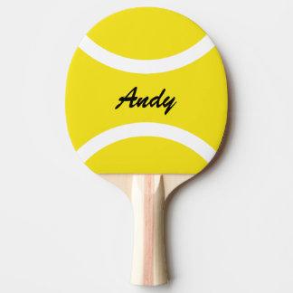 Gelbe Tennisball tabletennis Klingeln pong Paddel Tischtennis Schläger