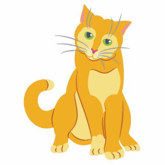 Gelbe Tom-Katze Freistehende Fotoskulptur