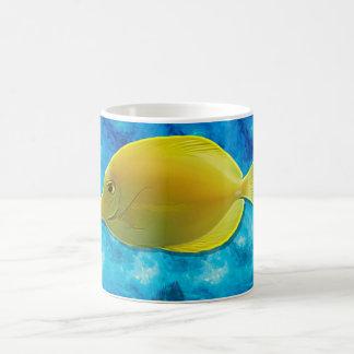 Gelbe tropische Fische Kaffeetasse
