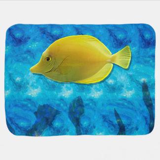 Gelbe tropische Fische Kinderwagendecke