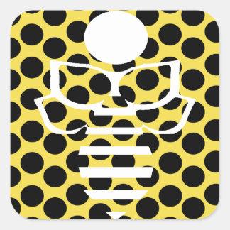 Gelbe Tupfen-Biene Quadratischer Aufkleber