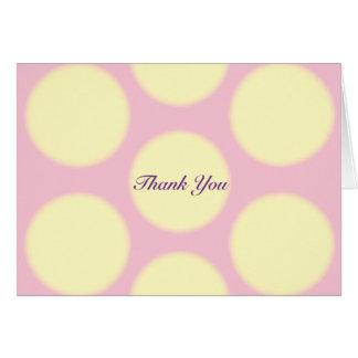 Gelbe Tupfen danken Ihnen Karte
