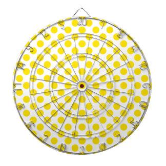 Gelbe Tupfen Dartscheibe