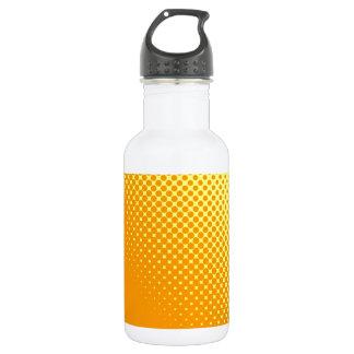 Gelbe Tupfen Edelstahlflasche