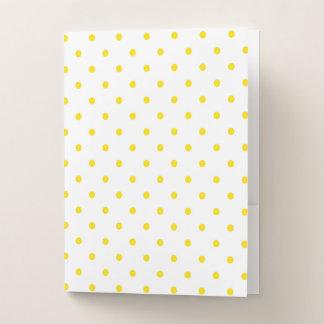 Gelbe Tupfen Mappe