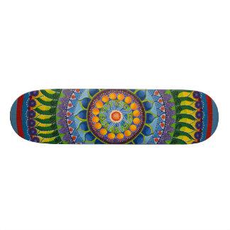 Gelbe u. blaue Skate-Plattform des Mandala-#1 18,4 Cm Mini Skateboard Deck