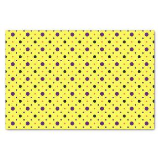 Gelbe u. Multi-groß Tupfen Seidenpapier