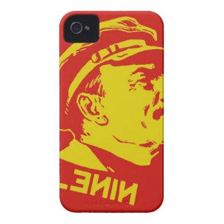 Gelbe u. rote Lenin-Kommunist-Grafik iPhone 4 Case-Mate Hüllen