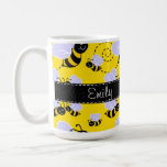 Gelbe u. schwarze Hummel-Biene Kaffeetasse