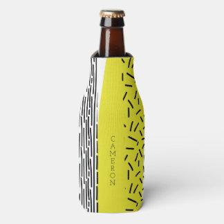 Gelbe u. schwarze Mischungs-geometrisches Muster Flaschenkühler