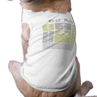 Gelbe und graue Anker-Fisch-nautischWetterfahne Shirt