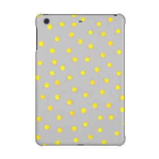 Gelbe und graue Confetti-Punkte