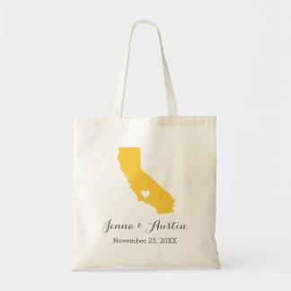 Gelbe und graue einkaufstasche