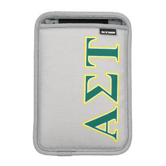 Gelbe und grüne Buchstaben AlphasigmaTau Sleeve Für iPad Mini