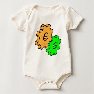 Gelbe und grüne Gänge Baby Strampler