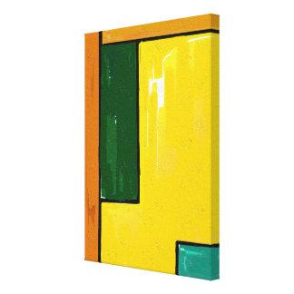 """""""Gelbe und grüne"""" Kunst auf Leinwand"""