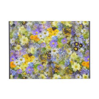 Gelbe und lila Frühlings-Blumen iPad Mini Etui
