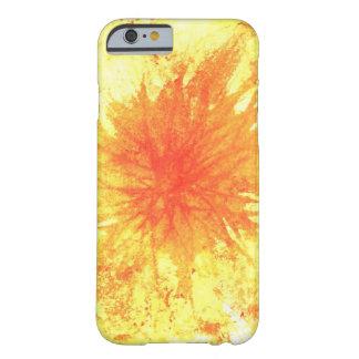 Gelbe und orange abstrakte Kunst-Wasserfarbe-Blume Barely There iPhone 6 Hülle