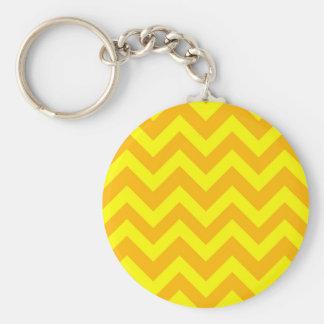 Gelbe und orange Sparren Schlüsselanhänger