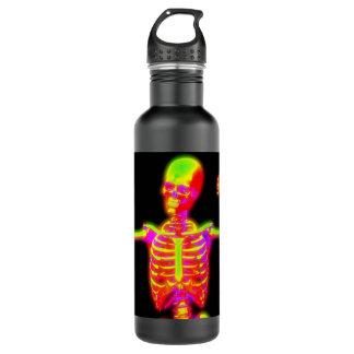 Gelbe und rosa Knochenwasserflasche Edelstahlflasche