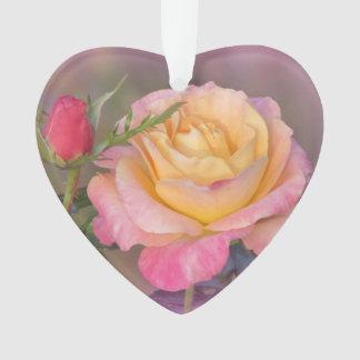 Gelbe und rosa Rosen Ornament