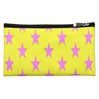 gelbe und rosa starcolors mittlere kosmetische cosmetic bag