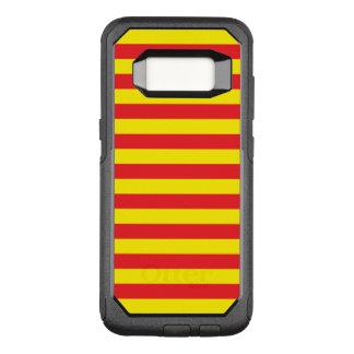 Gelbe und rote horizontale Streifen OtterBox Commuter Samsung Galaxy S8 Hülle