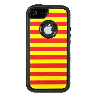 Gelbe und rote horizontale Streifen OtterBox iPhone 5/5s/SE Hülle