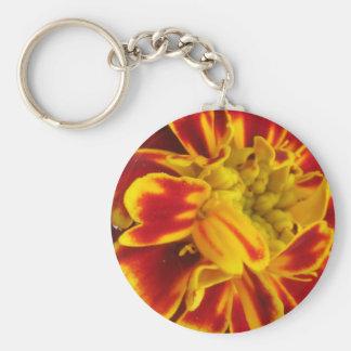 Gelbe und rote Ringelblumen-nahes hohes Schlüsselanhänger