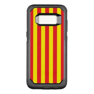 Gelbe und rote vertikale Streifen OtterBox Commuter Samsung Galaxy S8 Hülle