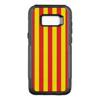 Gelbe und rote vertikale Streifen OtterBox Commuter Samsung Galaxy S8+ Hülle