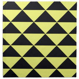 Gelbe und schwarze Dreiecke Serviette