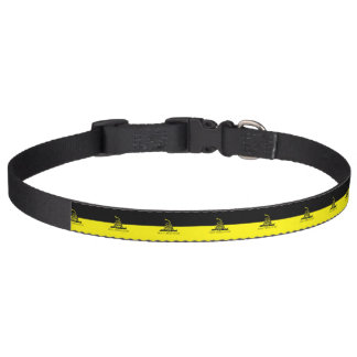 Gelbe und schwarze Gadsden-Flagge Haustierhalsband