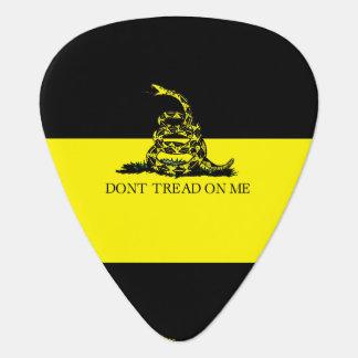 Gelbe und schwarze Gadsden-Flagge Plektrum