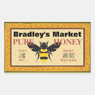 Gelbe und schwarze Hummel-Biene besonders Rechteckiger Aufkleber