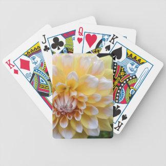 Gelbe und weiße Dahlie Bicycle Spielkarten