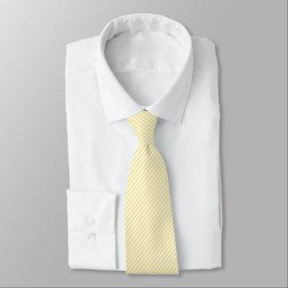 Gelbe und weiße Diagonale Stripes Krawatte